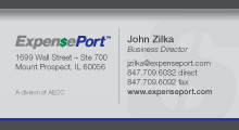 ExpensePort business card