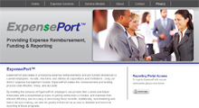 ExpensePort website design